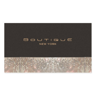 FAUX Sparkling Sequins and Suede Fashion Boutique Pack Of Standard Business Cards