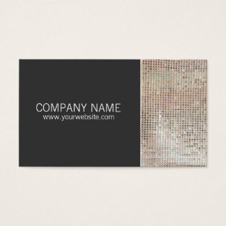 FAUX Sparkly Sequins Entertainment Business Card