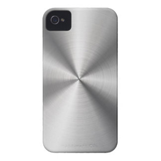Faux Stainless Steel Metal iPhone 4 Covers