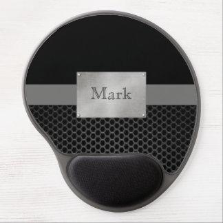 Faux Steel Nameplate Personalised Gel Mouse Pad
