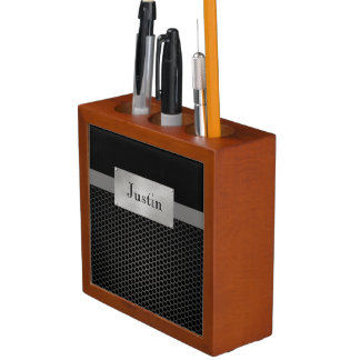 Faux Steel Personalized Desk Organiser