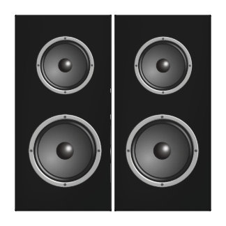 Faux Stereo Speakers Gallery Wrap Canvas