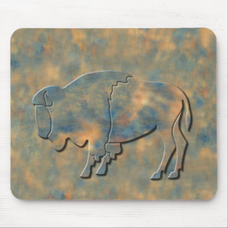 Faux Stone Bison Mouse Pad