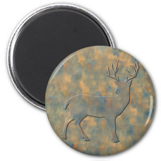 Faux Stone Buck Refrigerator Magnets
