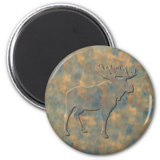 Faux Stone Moose Magnets