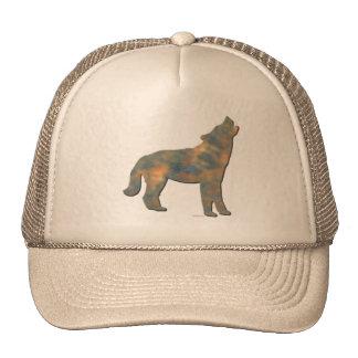 Faux Stone Wolf Art Cap