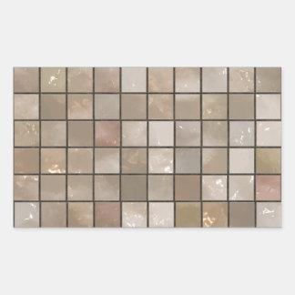 Faux Tan Floor Tile Image Rectangular Sticker