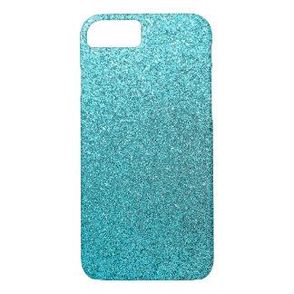 Faux Teal Blue Glitter Background Sparkle Texture iPhone 8/7 Case