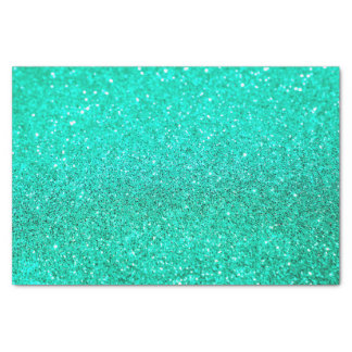 faux teal glitter tissue paper