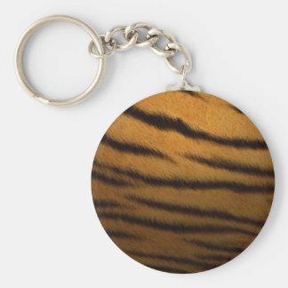 faux tiger print keychain