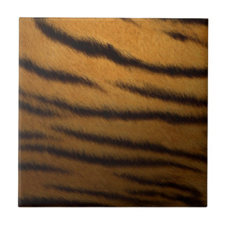 faux tiger print small square tile