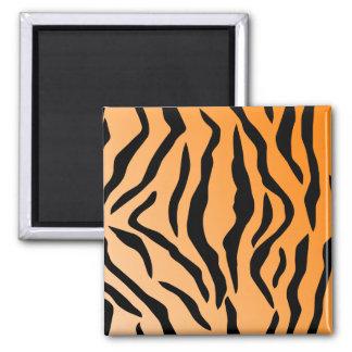 Faux Tiger Print Square Magnet