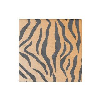 Faux Tiger Print Stone Magnet