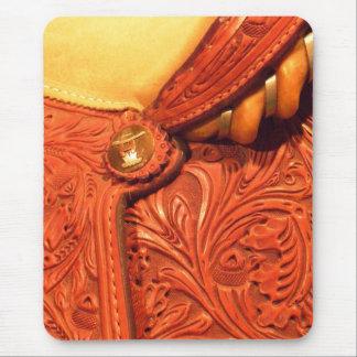 Faux Tooled Leather Saddle Mouse Pad