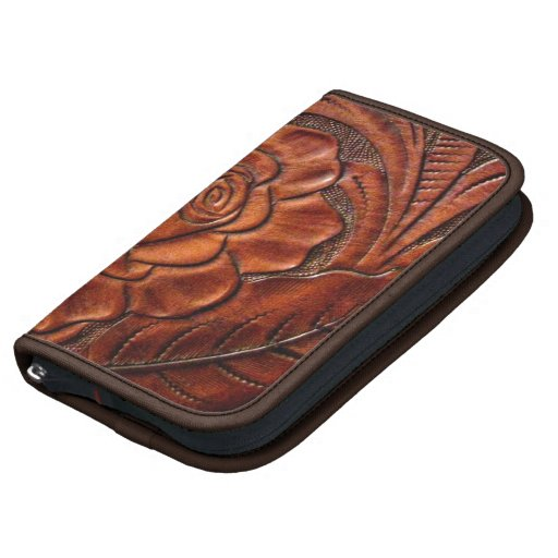 Faux Tooled Leather Smartphone Folio Case Folio Planners