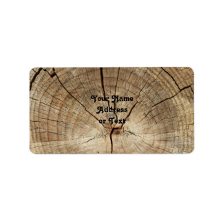 Faux Tree Rings Background Address Label