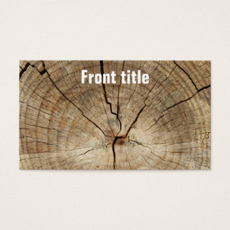Faux Tree Rings Background Business Card
