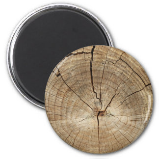 Faux Tree Rings Background Refrigerator Magnet