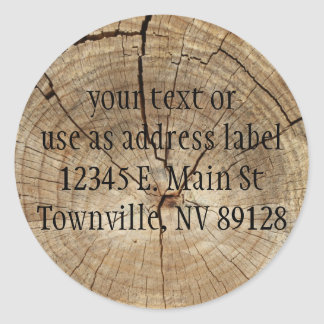Faux Tree Rings Background Round Sticker