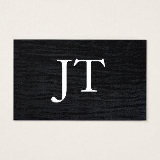 Faux Velvet Black Print with Monogram
