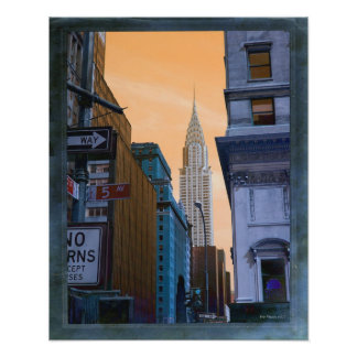 Faux Vintage Chrysler Building Photo Print