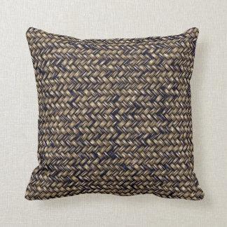 Faux Wicker Weave Effect Pattern Throw Pillows