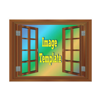 Faux Window Create Your Own Gallery Wrap Canvas