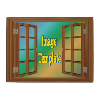 Faux Window Create Your Own Wood Canvas