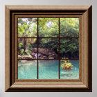 Faux Window Poster Peaceful Water Garden Zen