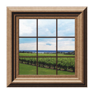 Faux Window Scene Vineyard Peaceful View Canvas Prints