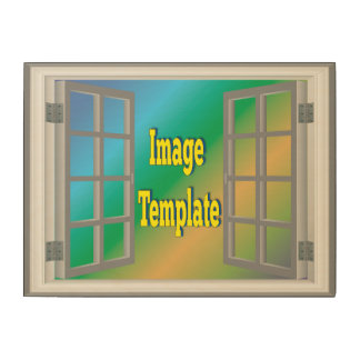Faux Window White Gray Create Your Own Wood Canvas