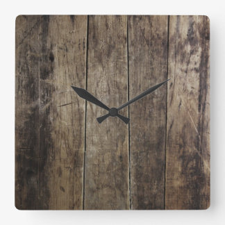 Faux Wood Clock