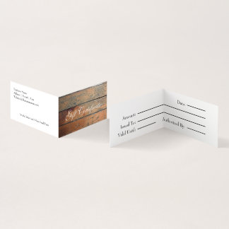 Faux Wood Gift Certificate