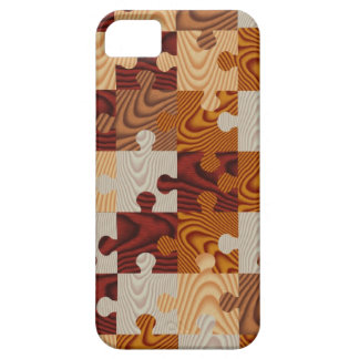 Faux wood jigsaw puzzle iPhone 5 case