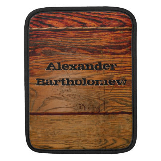 Faux Wood Oak Plank Country Western iPad Case
