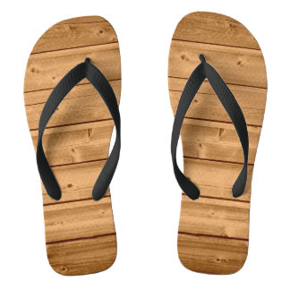 Faux Wood Plank Design Thongs