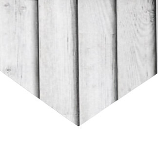 Faux Wood Slats | White | Customisable Tissue Paper