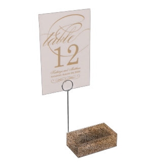 Faux Wood Table Card Holder