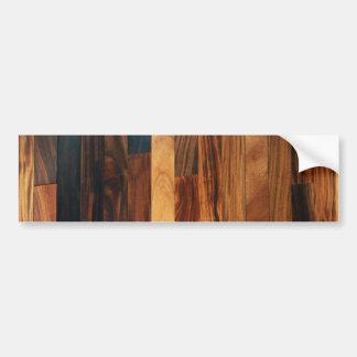 Faux Wooden Floor Slats Bumper Sticker