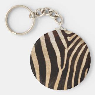 faux zebra print keychains