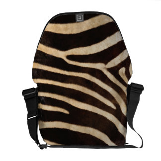 Faux Zebra Stripe Fur Commuter Bags