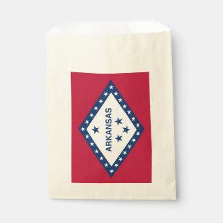 Favor bag with flag of Arkansas, USA