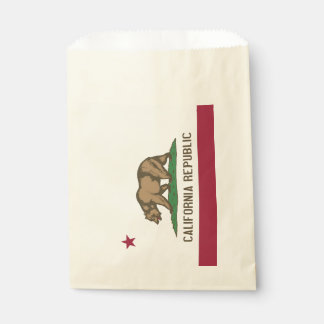Favor bag with flag of California State, USA