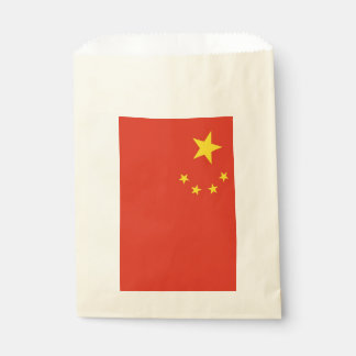 Favor bag with flag of China
