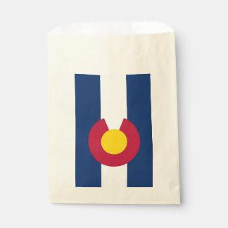 Favor bag with flag of Colorado State, USA