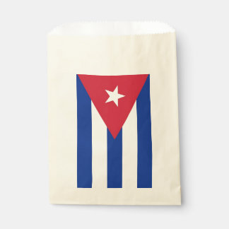 Favor bag with flag of Cuba