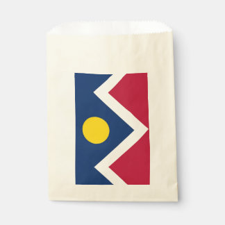Favor bag with flag of Denver City, Colorado, USA