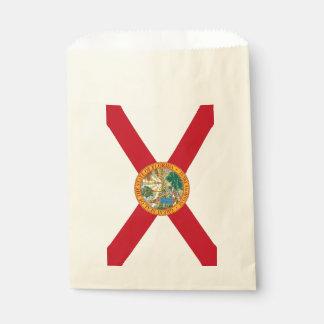 Favor bag with flag of Florida State, USA