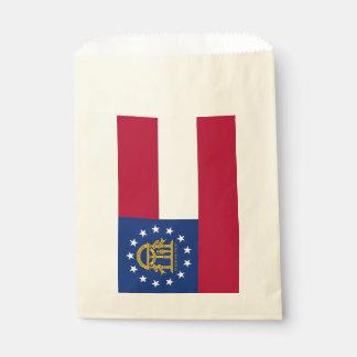 Favor bag with flag of Georgia State, USA
