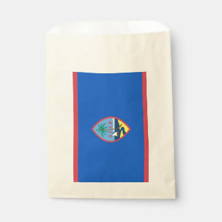 Favor bag with flag of Guam, USA